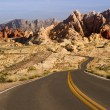 Постер, плакат: Empty Road through Red Rocks