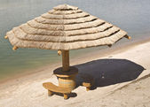 Palapa Hut on Beach — Stock Photo