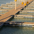 Docks on a bay - Stock Photo