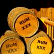 Stock Photo: Rum Kegs