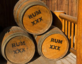 Argh Barrels of Rum — Stock Photo