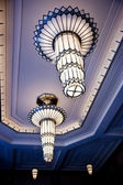 Art Deco Chandeliers in Smith Center Lobby — Stock Photo