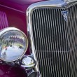 Classic car with Gleaming Grille Work — Stock Photo