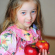 Royalty-Free Stock Photo: The girl with apples