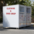 Clothing drop box — Stock Photo