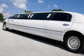 White Stretch Limo — Stock Photo