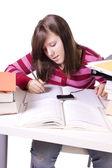 若い学生の試験勉強をして — ストック写真