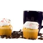 Isolated Coffee Mug with Cupcake — Stock Photo #8323560