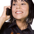 Asian - Hispanic Businesswoman Talking on the Cell Phone — Stock Photo