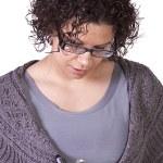 Beautiful Hispanic Woman With a Clipboard — Stock Photo #9526384