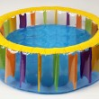 Inflatable paddling pool — Stock Photo #10225989