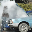 Stock Photo: Overheated Car