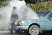 Overheated Car — Stock Photo