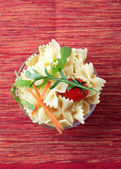 Bowl of bowtie pasta — Stock Photo