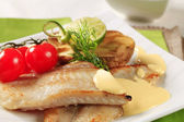 Pan fried fish fillets — Stock Photo