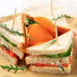 Vegetable Sandwiches and crisps — Stock Photo #10542624