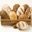 Various types of bread - Stock Photo