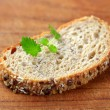 Slice of whole grain bread — Stock Photo