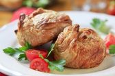 Puff pastry parcels — Stock Photo