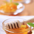 Bowl of honey - Stock Photo