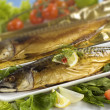 Smoked mackerel - Stock Photo