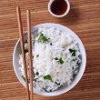 Bowl of white rice - Stock Photo