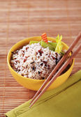 Bowl of mixed rice — Stock Photo