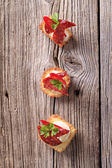 Canapés tartlet — Foto Stock