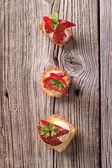Canapés tartlet — Fotografia Stock