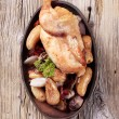 Chicken and baked potatoes — Stock Photo #8730322
