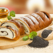 Stock Photo: Sweet poppy seed roll