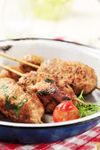 Minced meat kebabs — Stock Photo