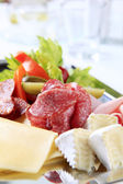 Tray of cold cuts — Stock Photo