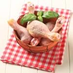 Raw chicken drumsticks — Stock Photo