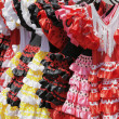 Flamenco dresses — Stock Photo