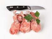 Muslos de pollo sin piel cruda — Foto de Stock