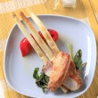 Marinated chicken and pan-fried asparagus — Stock Photo #9165969