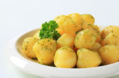 Potatoes with butter and parsley — Stock Photo