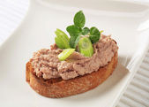 Toasted bread and pate — Stock Photo
