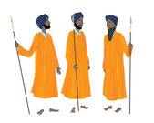 Golden temple guards — Stock Vector