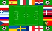 European football championship 2012 — Stock Photo