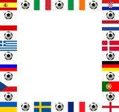 Campeonato europeo de fútbol marco cuadrado 2012 — Foto de Stock