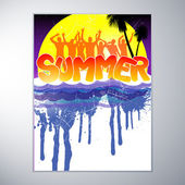 Tropical summer banner — Stock Vector