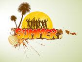 Tropischer sommer-banner — Stockvektor