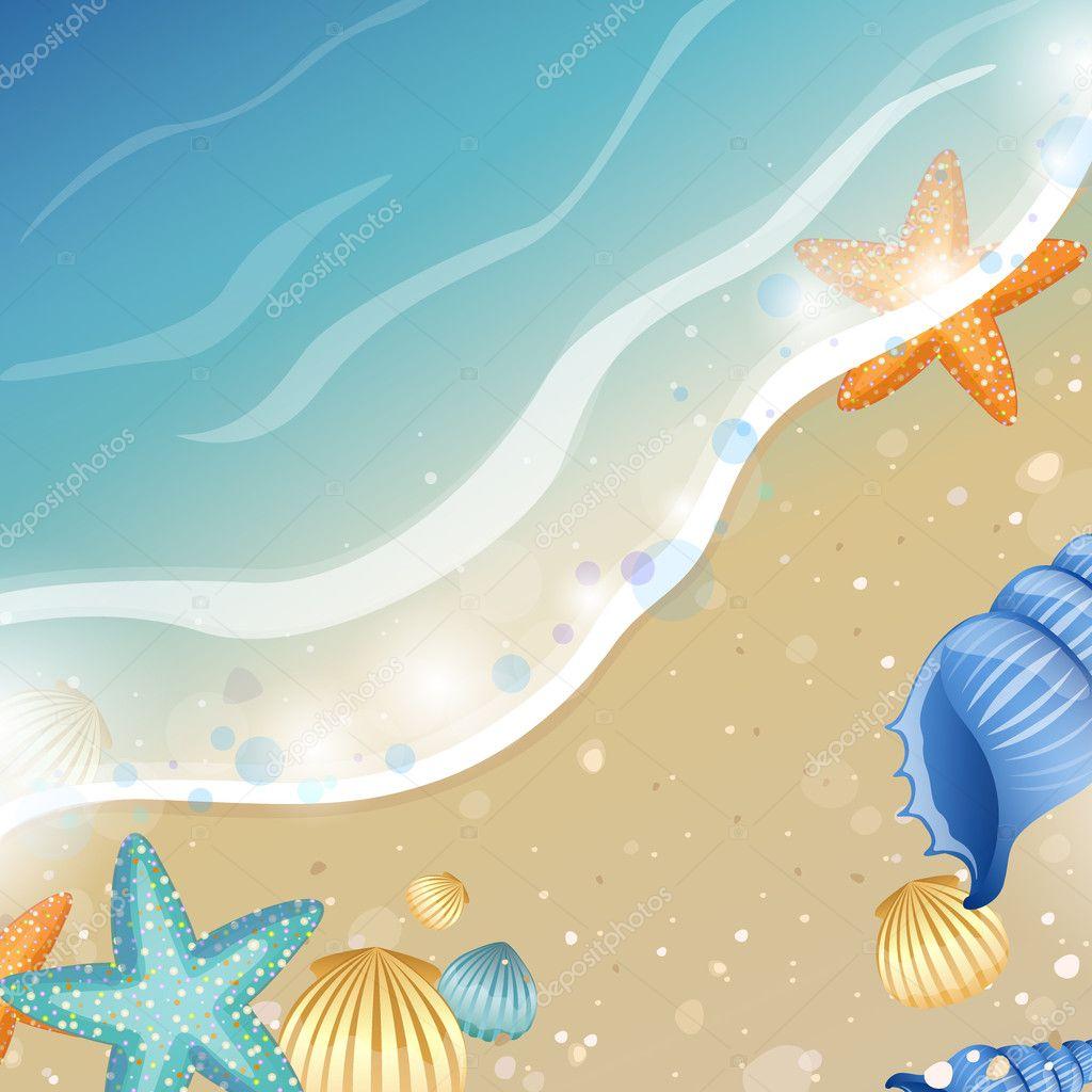 Summer Beach Design Stock Vector Ramonakaulitzki 8774860