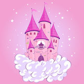 Castillo de princesa — Vector de stock