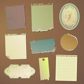 Vector note papers — Vector de stock