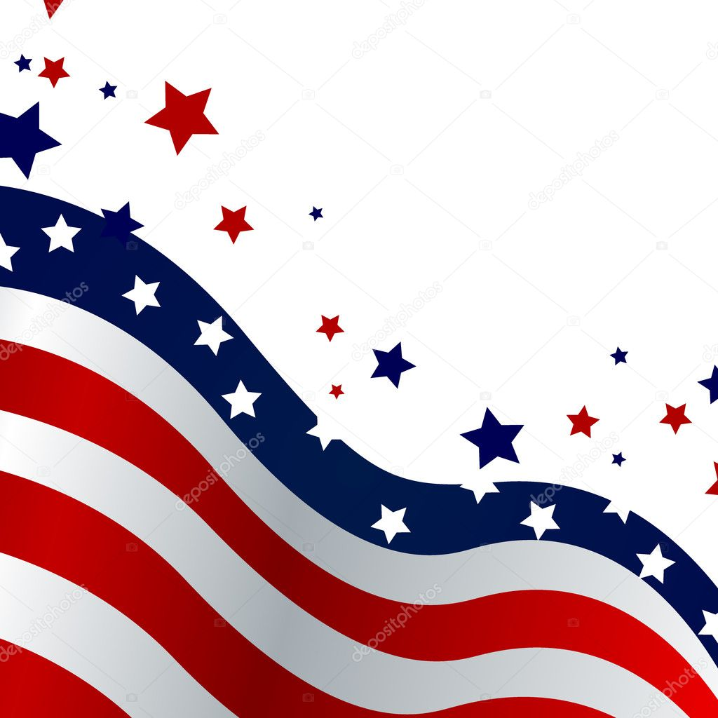 Vector illustration of a blue and red stars and stripe background — Stock Vector #9519963
