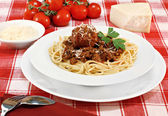 Spaghetti and Meatballs — Foto Stock