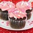 Valentine Cupcakes — Stock Photo #8771875